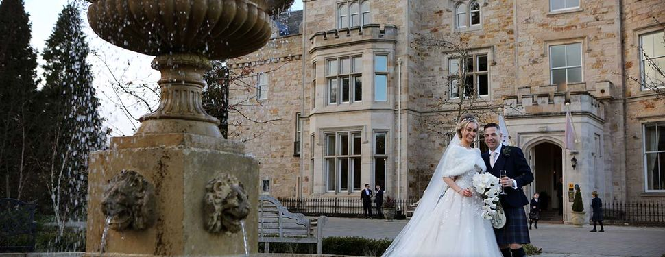Caitlin and Craig's wedding photography at Crossbasket Castle