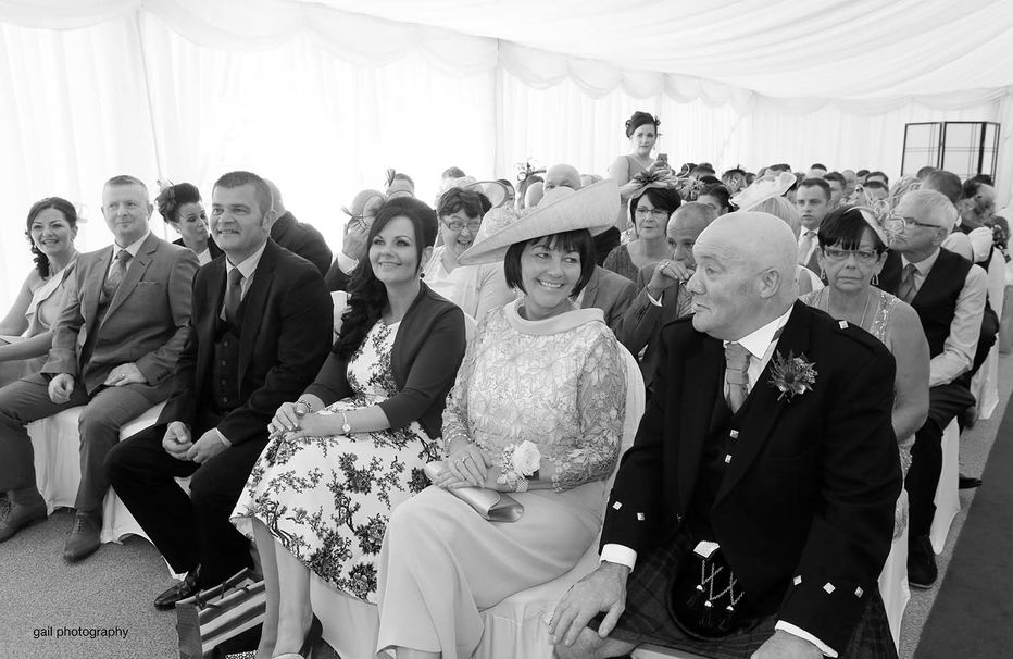 Kerrie and Brian's wedding photography at Cornhill Castle