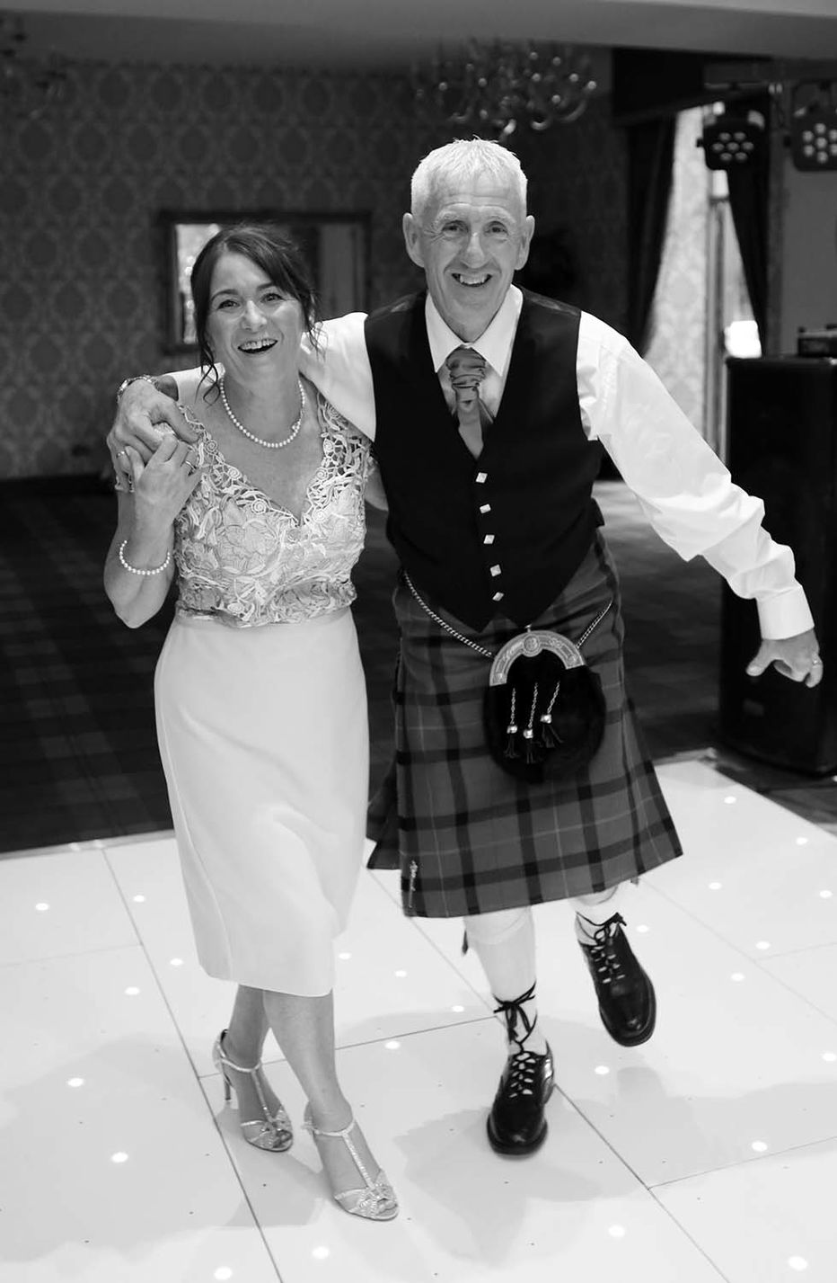 Rebecca and David's wedding photography at Glenbervie house hotel