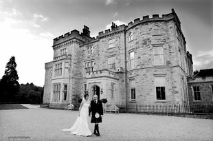 Andy and Martine's wedding photography at Crossbasket Castle, Blantyre