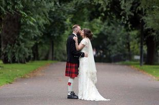Lee and Lana's wedding photography at West Brewery, Glasgow Green