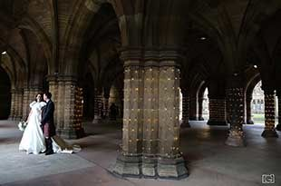 The wedding photography of Martin and Lara at The University of Glasgow
