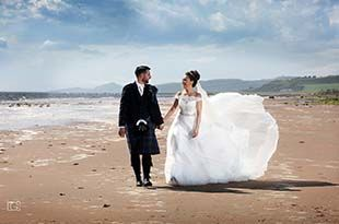 Wedding photography of Ashley and Alistair at Seamill Hydro