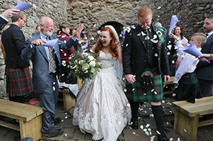 Brittnee and Cameron's wedding at Dunnottar Castle