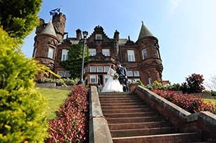 Dawn and Nick's wedding photography at Sherbrooke castle hotel, Glasgow
