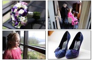 Wedding photography at Lodge on the Loch- Clare and Mark